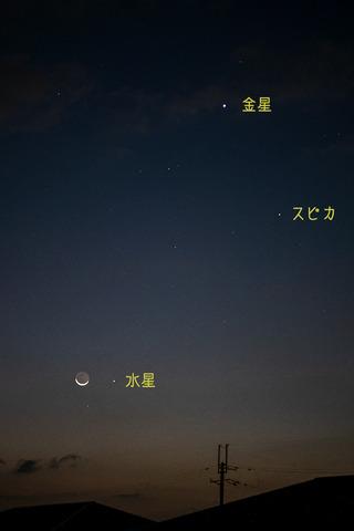 月・金星・水星